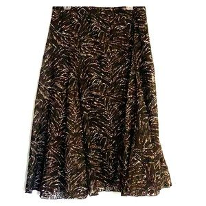 Black and brown pattern skirt